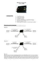 HD-SDI 3 in 1 Konverter Art.Nr.: 38980 Technische Daten: 1 1x HD ...