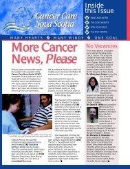 January 2001 - Cancer Care Nova Scotia