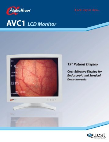 AVC1 LCD Monitor - Quest International