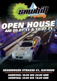 OPEN HOUSE AM 09.07.11 & 10.07.11 - Sawhill Racing Team