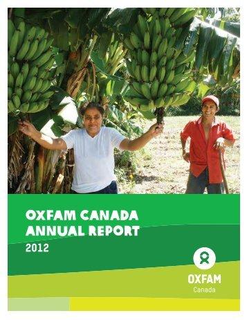 Annual Report 2012 - Oxfam Canada