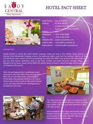 E-brochure - Savoy Dubai