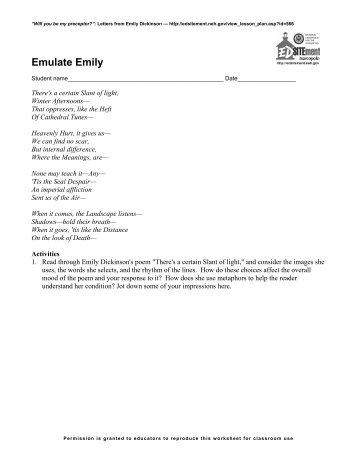 Emulate Emily - EDSITEment