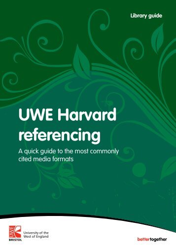 UWE Harvard referencing - HSC Home