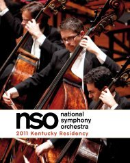 2011 Kentucky Residency - Kentucky Arts Council