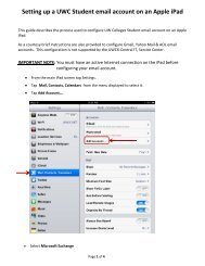 Setting up a UWC Student email account on an Apple iPad - Central ...