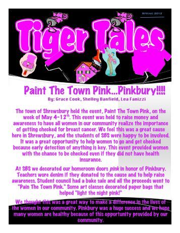 Tiger Tales Spring 2012 (pdf) - Shrewsbury Borough School