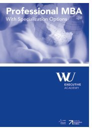 Brochure Professional MBA - WiWi-Online