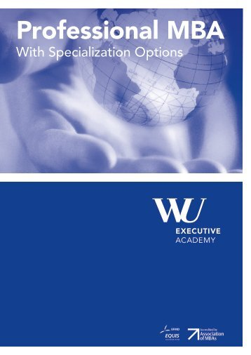 Brochure Professional MBA - WiWi-Online