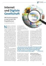 01. Mai 2011 Internet und Digitale Gesellschaft Trend Ausgabe Nr ...