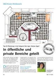 In öffentliche und private Bereiche geteilt - SBZ