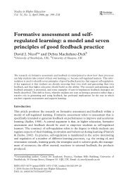 Formative assessment and self- regulated learning: a model and ...