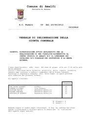 verbale di deliberazione della giunta comunale - Comune di Amalfi