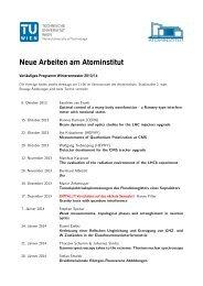 Archiv älterer Seminarprogramme - Atominstitut