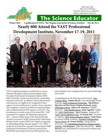 Vol.60, No.2, Winter 2012 - Virginia Association of Science Teachers