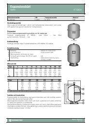 Produktbladför Expansionskärl - Ajetex - Armatec