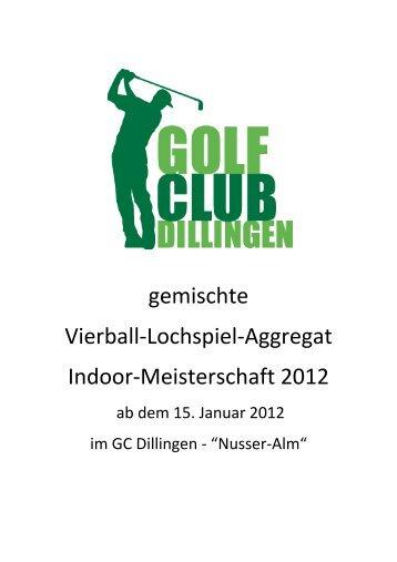 gemischte Vierball-Lochspiel-Aggregat Indoor-Meisterschaft 2012