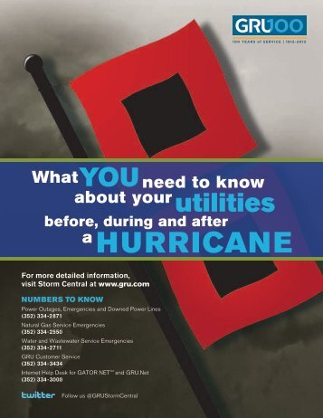 GRU Quick Reference Hurricane Guide (pdf)