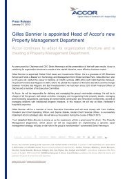 Gilles Bonnier is appointed Head of Accor's new Property ...