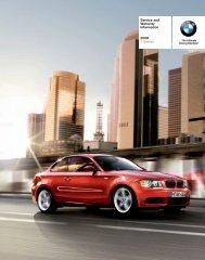 Service and Warranty Information 2008 1 Series - Irvine BMW