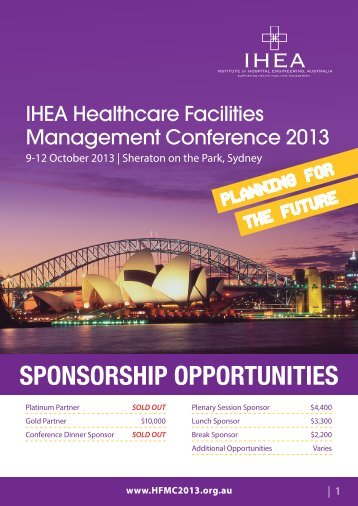 Click here for the Sponsorship Opportunities Brochure PDF