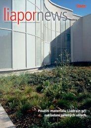 Zelené střechy - Liapor