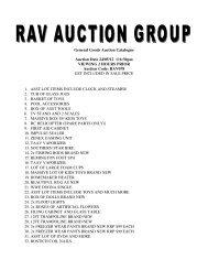 General Goods Auction Catalogue Auction Date 24/05/12 @6:30pm ...