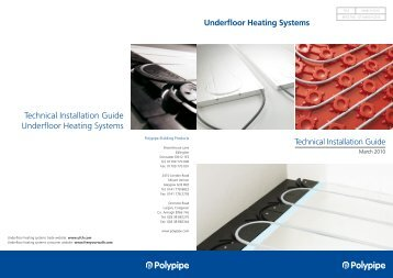 Technical Installation Guide Underfloor Heating Systems