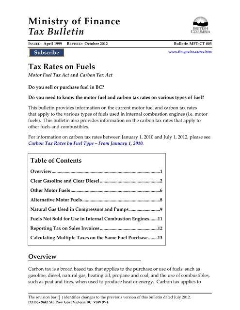 Ct Sales Tax Rate >> Bulletin Mft Ct 005 Tax Rates On Fuels