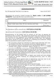 quotation letter - IIT Mandi