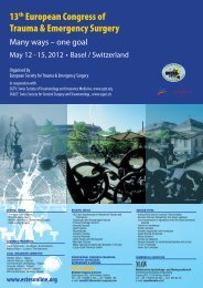13th European Congress of Trauma & Emergency Surgery