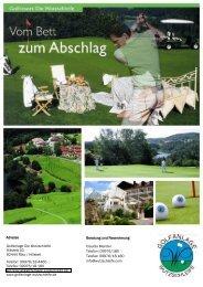 Factsheet Golfanlage Wutzschleife - Die Wutzschleife