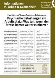 Praxistipp - Beratungstelle Arbeit & Gesundheit, Hamburg