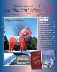 March 2011 - Scandinavian Heritage Association