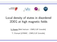Local density of states in disordered 2DEG at high ... - Institut NÉEL