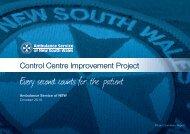 Control Centre Improvement Project Report October 2010