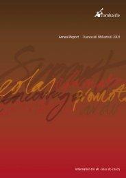 Comhairle's Annual Report 2003 - Citizens Information Board