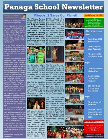 Download Newsletter February/March 2011 Issue 23 - Panaga School