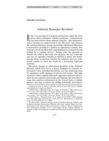 Antitrust Remedies Revisited - Oregon Law