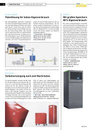 Paketlösung für hohen Eigenverbrauch Mit großen Speichern 80 - SBZ