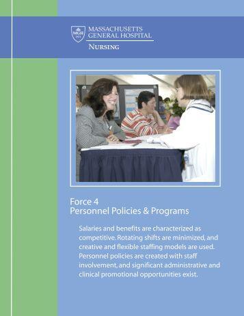 Personnel Policies & Programs - Patient Care Services