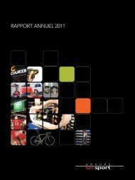 Rapport annuel 2011 - Groupe Go Sport