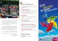 Le plan de la Foire Saint-Michel 2012
