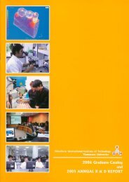 2006 Graduate Catalog and 2005 Annual R & D Report - Sirindhorn ...