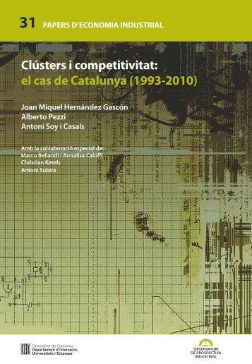 Clústers i competitivitat - Generalitat de Catalunya