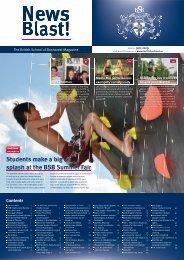 Students make a big splash at the BSB Summer Fair splash at the ...