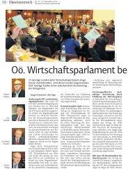 Oö. Wirtscha sparlament be - Ring Freiheitlicher Wirtschaftstreibender