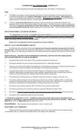 Lot Line Adjustment - County of Wellington