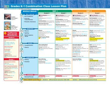 Grades K–1 Combination Class Lesson Plan - Treasures