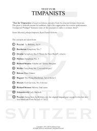 TEST FOR TIMPANISTS - 60 - 7 pro... - Edition Svitzer